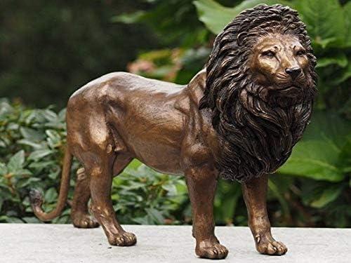 Bronzartes Statue de jardin en bronze pour int/érieur et ext/érieur Motif lion