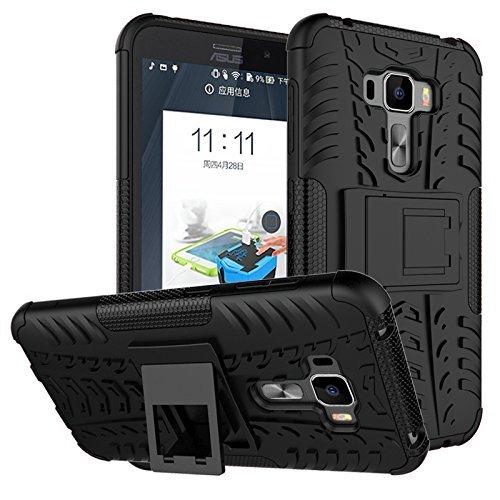 IVSO Asus Zenfone 3 Laser ZC551KL Case Hybrid KickStand Case for Asus Zenfone 3 Laser ZC551KL Smartphone (Black)