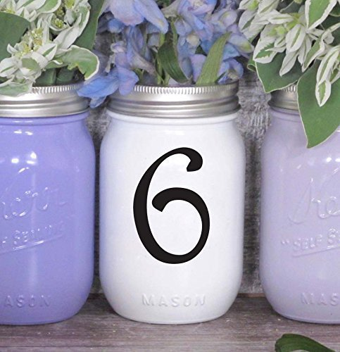 amazon com wedding table numbers 1 10 15 20 or 25 custom