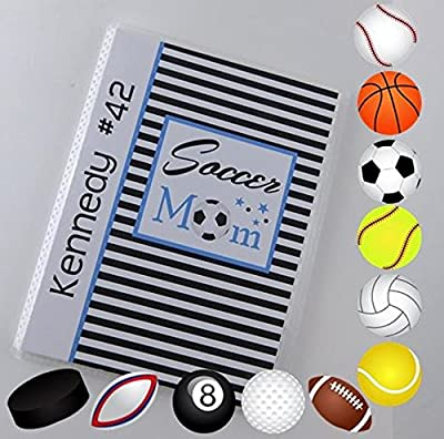 Soccer Photo Album IA#884 4x6 or 5x7 Pictures Team Mom Coach Gift Summer Team Sport Championship Football Softball Volleyball Soccer Baseball