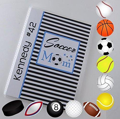 (Soccer Photo Album IA#884 4x6 or 5x7 Pictures Team Mom Coach Gift Summer Team Sport Championship Football Softball Volleyball Soccer Baseball)