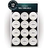 PRO SPIN Ping Pong Balls - White 3-Star 40+ Table Tennis Balls (6, 12, 24) | High-Performance ABS Training Balls | Ultimate Durability for Indoor/Outdoor Ping Pong Tables, Competitions, Games