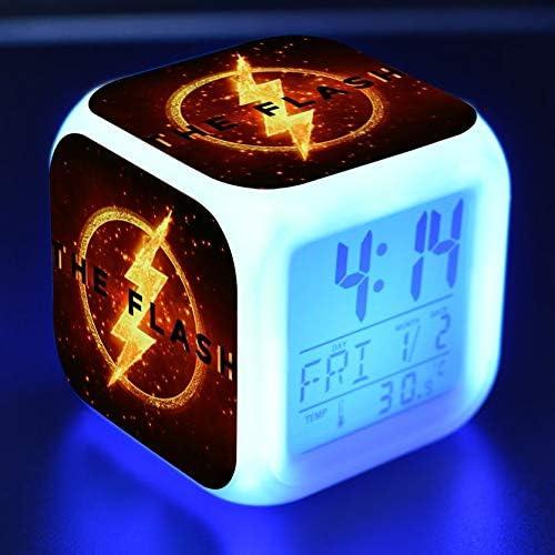 xiaohuhu Flash LED Siete Colores creativos Humor Despertador