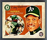 "Rickey Henderson Oakland Athletics MLB Retro Composite Photo (Size: 12"" x 15"") Framed"