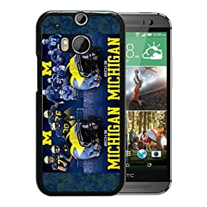 NCAA Michigan Wolverines 4 Black Customize HTC ONE M8 Phone Cover Case