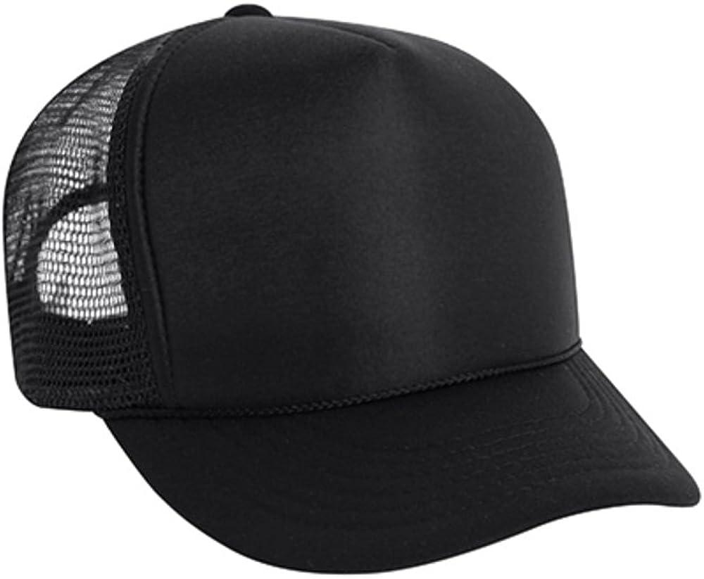 Wholesale Lot Solid Black Mesh Foam Trucker Hat  Snapback CAPS 2 DOZEN Hats