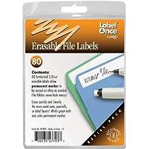 Jokari Label Once Erasable File Labels Refill Pack, 80-Count by JOKARI