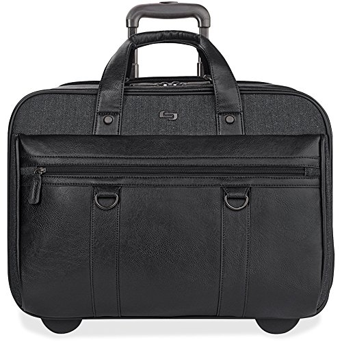 (Solo New York Macdougal Rolling Laptop Bag.  Rolling Briefcase for Women and Men. Fits up to 17.3 inch laptop - Black)