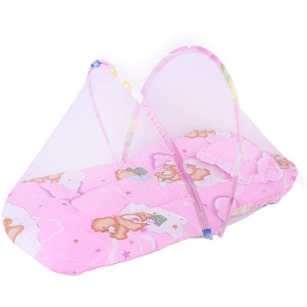 Erholi Durable Practical Baby Folding Mosquito Net with Cotton Pad Crib Netting