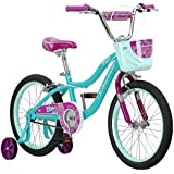 Schwinn Elm Girl's Bike, Featuring SmartStart Frame to Fit Your Child's Proportions, Some Sizes Include Training Wheels and Saddle Handle, 12-14-16-18-20-Inch Wheel Sizes, Pink, Purple, and Teal