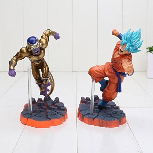 14cm Dragon Ball Z Super Saiyan Son Goku Freeza Juguetes PVC Action Figure Collectible Brinquedos Model Doll Kids (Cyborg Lamp)