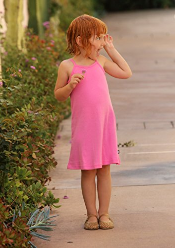 City Threads Big Girls' Summer Dress Cami Camisole Spaghetti Strap Maxi Slip No Sleeve Dress For Sensitive Skin or SPD Sensory Friendly, White w/ Ligh Pink Stitch, 7 by City Threads (Image #6)