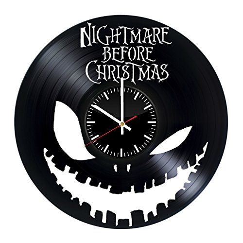 Nightmare Before Christmas Vinyl Record Wall Clock.Get unique home room wall decor.