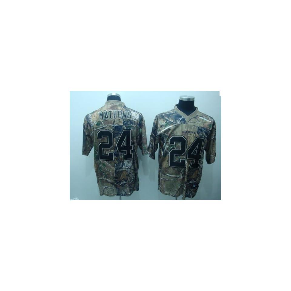 San Diego Chargers NFL Jerseys #24 Ryan Mathews Camo Authentic Football Jersey Size 46 60