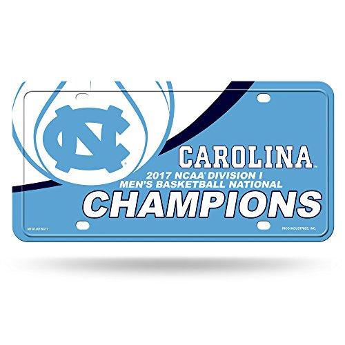 - NCAA North Carolina Tar Heels 2017 Men's National Basketball Champions Metal Auto Tag, Carolina Blue, White, 12-inch by 6-inch