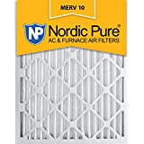 Nordic Pure 20x24x2 MERV 10 Pleated AC Furnace Air Filter, Box of 3