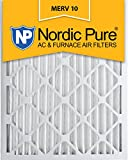 Nordic Pure 16x25x2 MERV 10 Pleated AC Furnace Air Filter, Box of 3