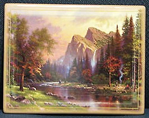 Foreign Accents Ltd. Thomas Kinkade The Mountains Declare His Glory Collector Plate