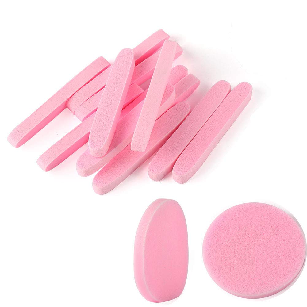 Facial Sponge Compressed,240 Count PVA Professional Makeup Removal Wash Round Face Sponge Pads Exfoliating Cleansing for Women,Pink