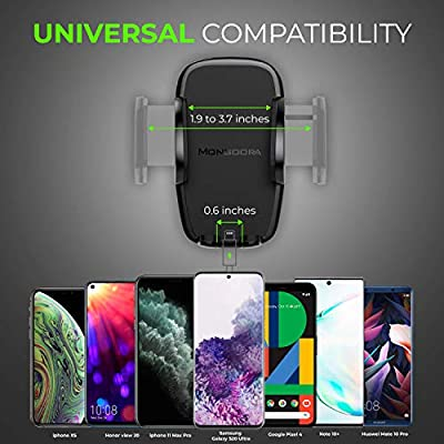 2020 Universal Air Vent Car Phone Mount Holder - Updated Version by Mongoora - for Any Smartphone - Car Cell Phone Holder - Vent Phone Holder - Car Vent Mount - Air Vent Mount Holder - for Women Men.