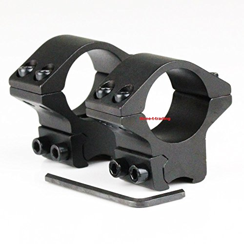 2 Piece 1 Inch Low Profile Rifle Scope Rings fits 11mm Dovetail Rail Optic Rings For Sale