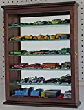 Walnut Small Wall Curio Cabinet Display Case Home Accents For Figurines