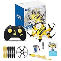 Welcomeuni JJRC H20H Mini RC Quadcopter 2.4G 4CH 6-Axis Gyro Headless Mode Yellow