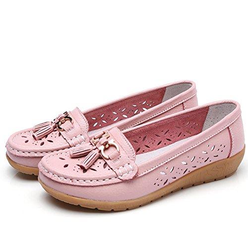 en de Plano Afeitar 2 de para Borla Zapatos tacón Zapatos SaraIris Casuales Mujer Zapatos conducción rosa de con P5xXw