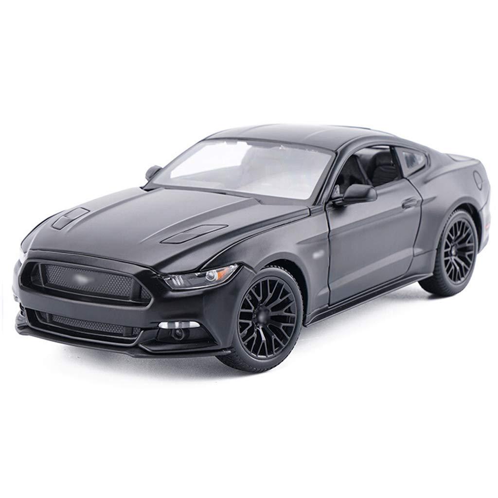 Reducción de precio DUWEN-Modelo de coche Ford Mustang Sports Car Die Casting Modelo 1:18 Aleación de emulación Modelo de Coche Colección Adornos (Color : Negro)