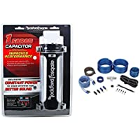 Rockford Fosgate RFC1 RFC-1 Platinum Plated 1 Farad Car Audio Capacitor+Amp Kit