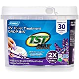 Camco 41553 30 Pack Strength TST Ultra-Concentrated Lavender Scent RV Toilet MAX Treatment Drop-Ins, Formaldehyde Free, Breaks Down Waste and Tissue, Septic Tank Safe