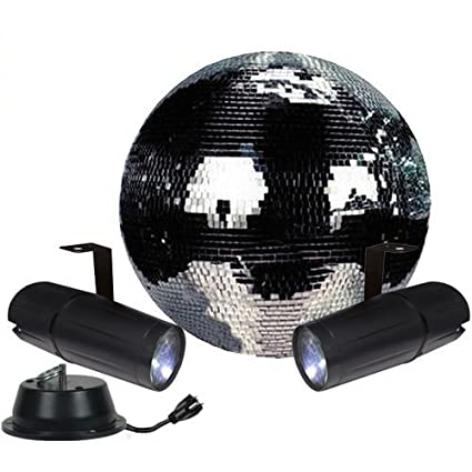 amazon com 12 disco mirror ball complete party kit with 2 led