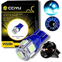 CCIYU 10 Pack Ice Blue T10 W5W Wedge 168 194 LED Bulb For Dome Light Map Light Trunk Cargo Area Light License Plate Light