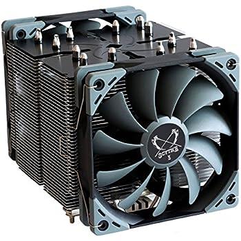 Scythe Ninja 5 120mm Air CPU Cooler, Intel LGA1151, AMD AM4, Dual Silent Fans, Black Top Cover
