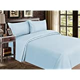 mayfair linen hotel collection 100 egyptian cotton sateen genuine 800tc sheet set twin extra long skylight blue