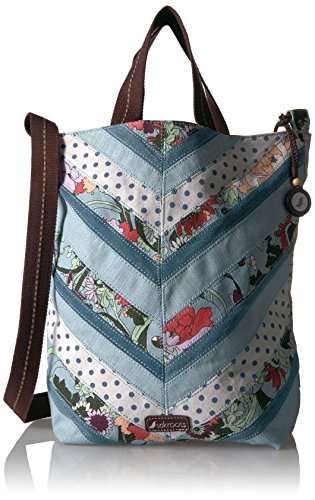 Sakroots Artist Circle Campus Tote, Sky Blue Flower Power
