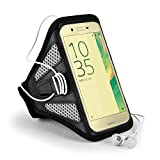 Sony Xperia X Armband, Sumaclife Premium Neoprene Workout Sport Exercise Armband for 5'' Sony Xperia X (Grey/Black)