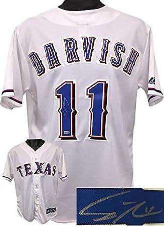 info for 31300 b033e Signed Yu Darvish Jersey - White Majestic #11 L Hologram ...
