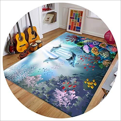world-palm 6mm Rectangle 3D Carpets Short Plush Fabric Mat Sofa Rug Pad Living Room Carpet Bedroom Mediterranea Carpet Home Furnishing Decor,13,800mmx1600mm