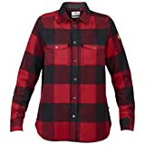 Fjallraven Women's Canada Shirt Longsleeve, Red, XS