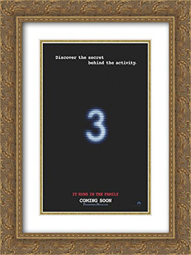 Paranormal Activity 3 18x24 Double Matted Gold Ornate Framed Movie Poster Art Print by ArtDirect