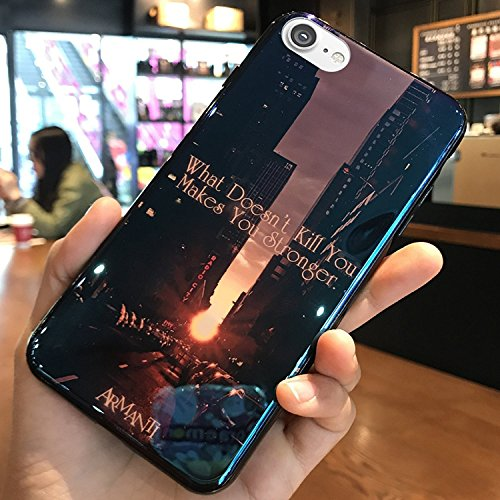 Cover Case Silicone 6S Anti Silicone x Shockprroof Cover 6S for iPhone EUWLY Rubber 6 iPhone Case Scratch Flexible Heart Ptotective 1 Love iPhone Apple with Evening 6 Case Design Lov Street Pattern Case Gel Stylus fqgwB8g