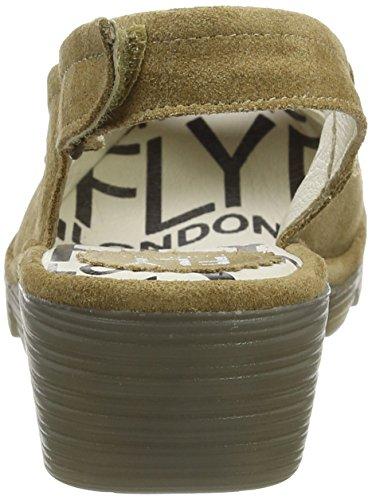 FLY London Papi789fly, Sandalias de Talón Abierto para Mujer Marrón (Cappuccino)