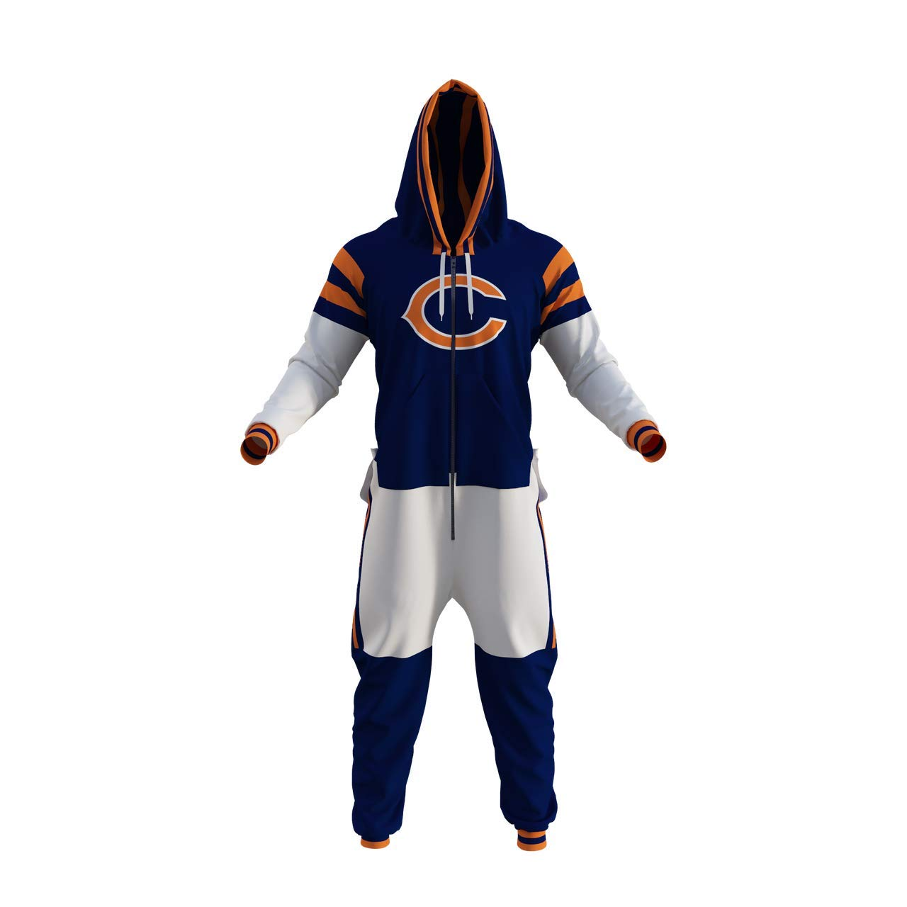 Chicago Bears NFL Adult Onesie (Small) Blue