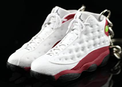 ee9bb2b4d92 Amazon.com : Air Jordan XIII 13 Retro Cherry Red White OG Sneakers Shoes 3D  Keychain Figure : Everything Else