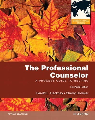 The Professional Counselor: A Process Guide to Helping by Harold L. Hackney (2012-01-01)