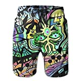 confirm vt New Magical Psychedelic Trippy Pattern Men's Beach Pants,Shorts Beach Shorts Swim Trunks