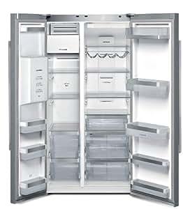 Siemens KA62DV78 nevera puerta lado a lado - Frigorífico side-by-side (Independiente, Cromo, Metálico, Acero inoxidable, Puerta americana, A++, SN-T, Lado)