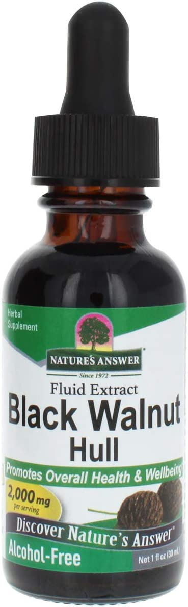 Nature's Answer Alcohol-Free Black Walnut Green Hulls, 1-Fluid Ounce