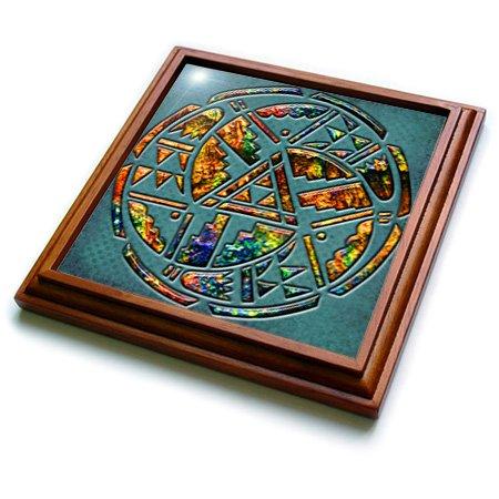 3dRose trv_108090_1 Designer One of a Kind Native American Art Trivet with Ceramic Tile, 8 by 8